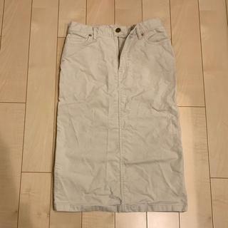 ムジルシリョウヒン(MUJI (無印良品))の無印良品  コーデュロイタイトスカート (ひざ丈スカート)