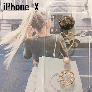 iPhoneX シェルブラックとゴールド ケース(スマホケース)