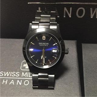 スイスミリタリー(SWISS MILITARY)の腕時計 SWISS MILITARY HANOWA 黒(腕時計(アナログ))