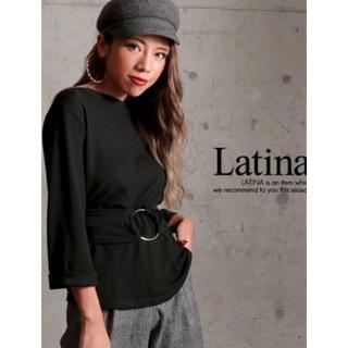 アナップラティーナ(ANAP Latina)のlatina シルバーリングウエストマークトップス(カットソー(長袖/七分))
