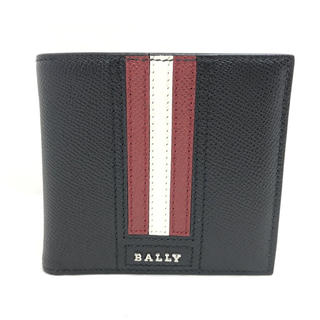 バリー(Bally)のBALLY バリー ストライプ  折り財布 6219664 ブラック マルチ(折り財布)