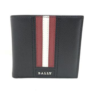 Bally - BALLY バリー ストライプ  折り財布 6219664 ブラック マルチ
