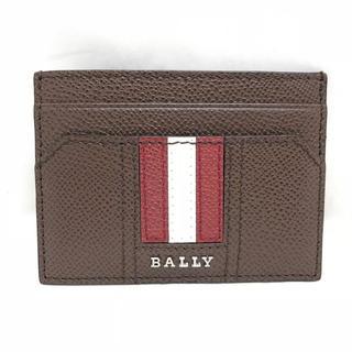 バリー(Bally)のBALLY バリー ストライプ 折り財布 6222712 ブラウン系 マルチ(名刺入れ/定期入れ)
