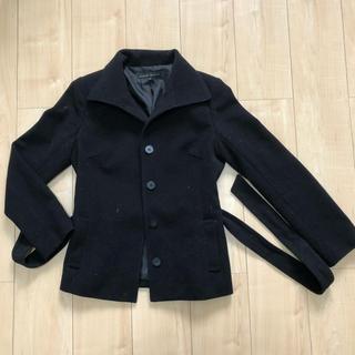 ノービーンズ(KNOW BEANS)のPコート ブラック KNOW BEANS(ピーコート)