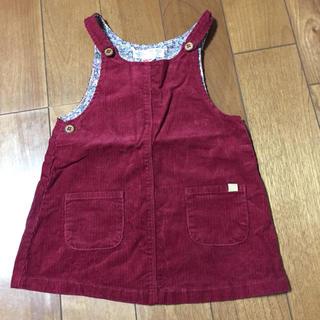 ザラキッズ(ZARA KIDS)の美品 ザラ ジャンパースカート18ー24m 92cm(ワンピース)