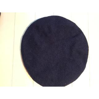 ザラ(ZARA)のZARA ベレー帽 ネイビー(ハンチング/ベレー帽)