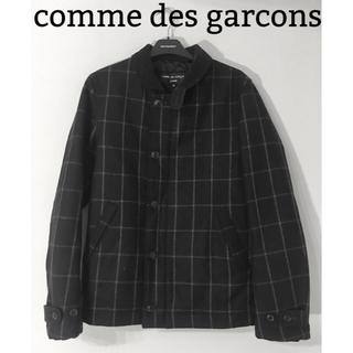 コムデギャルソン(COMME des GARCONS)のcomme des garcons チェック ブルゾン コート メンズ 正規購入(ピーコート)