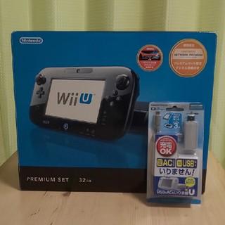 ウィーユー(Wii U)の【タイムセール】wiiu+充電ケーブル(家庭用ゲーム本体)