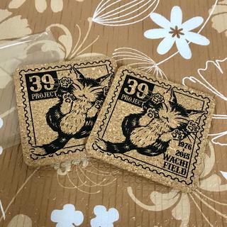 《非売品》 にゃんキューのコルクコースター 2枚セット ダヤン ノベルティー(キッチン小物)