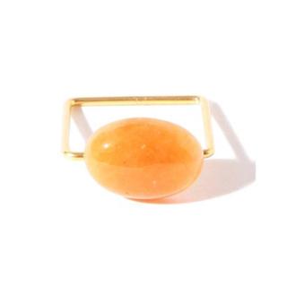 デミルクスビームス(Demi-Luxe BEAMS)の最終値下げ!Demi-Luxe BEAMS 天然石 リング オレンジ(リング(指輪))