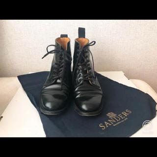 サンダース(SANDERS)のサンダース ミリタリーダービーブーツ 23〜23.5cmブラック レディース(ブーツ)