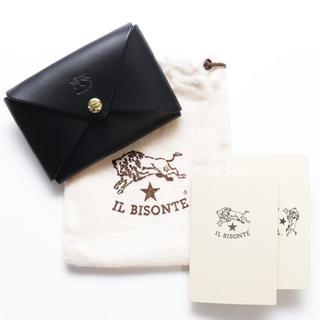 イルビゾンテ(IL BISONTE)の新品 イルビゾンテ カードケース ブラック 本革 名刺入れ ブランド オリガミ(名刺入れ/定期入れ)