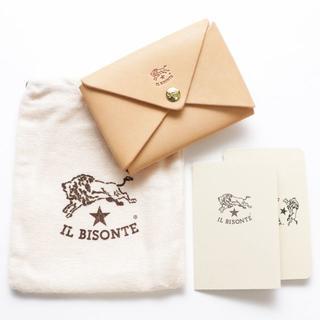 イルビゾンテ(IL BISONTE)の新品 イルビゾンテ カードケース ヌメ革 レザー 名刺入れ ブランド オリガミ(名刺入れ/定期入れ)