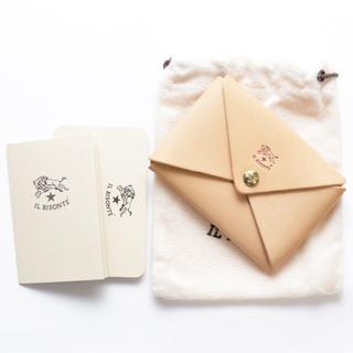 イルビゾンテ(IL BISONTE)の新品 イルビゾンテ 名刺入れ オリガミ ヌメ革 カードケース ケース ブランド(名刺入れ/定期入れ)