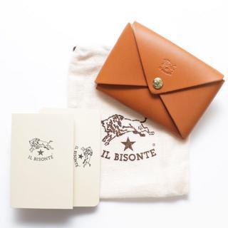 イルビゾンテ(IL BISONTE)の新品 イルビゾンテ カードケース ヤキヌメ レザー 名刺入れ ブランド オリガミ(名刺入れ/定期入れ)