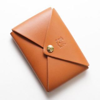 イルビゾンテ(IL BISONTE)の新品 イルビゾンテ 名刺入れ オリガミ ヤキヌメ カードケース ケース ブランド(名刺入れ/定期入れ)