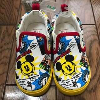 ディズニー(Disney)の新品未使用  スリッポン  スニーカー  15㎝  ミッキー  ディズニー  (スリッポン)