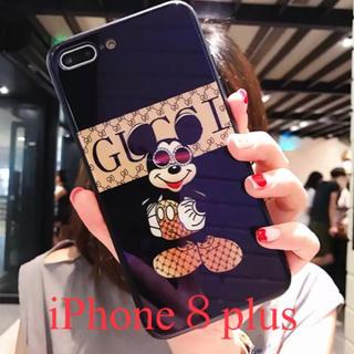 ディズニー(Disney)のiPhone8plusケース   ミッキー  新品   黒(iPhoneケース)