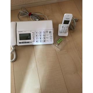 パナソニック(Panasonic)のパナソニック FAX付き電話(電話台/ファックス台)
