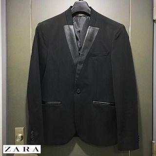 """ザラ(ZARA)の【名作】ZARA/ザラ ノーカラーブレザー A """"サイズM""""(スーツジャケット)"""