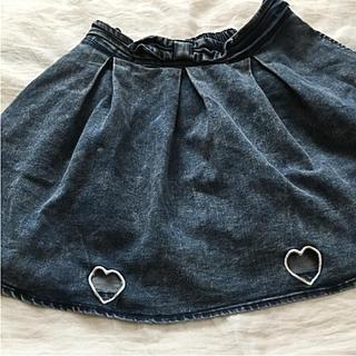 シマムラ(しまむら)の女児160cm ハートのデニムスカート♪(スカート)