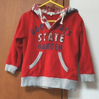 サンカンシオン(3can4on)の3can4on 赤のパーカー/90cm(Tシャツ/カットソー)