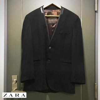 "ZARA - 【名作】ZARA/ザラ ノーカラーブレザー B ""サイズL"""