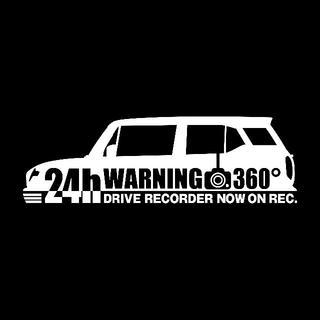 【ドラレコ】スズキ クロスビー【MN71S系】警告 360度 録画中 ステッカー(セキュリティ)