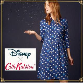 キャスキッドソン(Cath Kidston)の新品キャス×ディズニー  ティンカーベル  ワンピース  10サイズ(ひざ丈ワンピース)