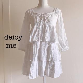 デイシーミー(deicy me)のdeicy me カットワークレースワンピース(ミニワンピース)