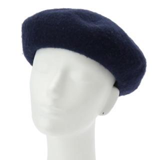 エージーバイアクアガール(AG by aquagirl)のAG by aquagirl フェルトベレー帽 ネイビー(ハンチング/ベレー帽)