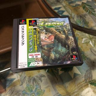 プレイステーション(PlayStation)のPS用 バスランディング&釣りコン(家庭用ゲームソフト)