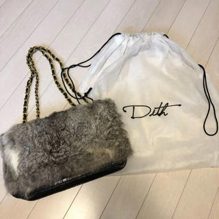 ディス(Dith)のDith ファーバッグ 未使用(ハンドバッグ)