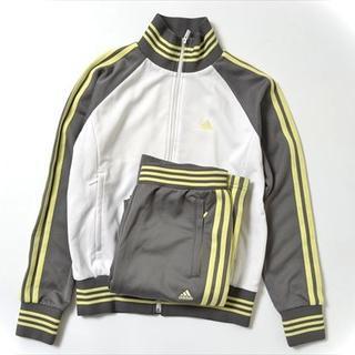 アディダス(adidas)の◇adidas◇sizeS jersey set up gray×yellow(セット/コーデ)