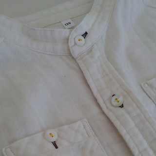 MUJI (無印良品) - MUJI /無印良品 株式会社良品計画【130】スタンドカラーシャツ