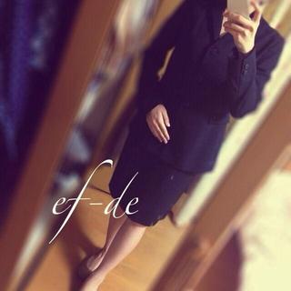 エフデ(ef-de)の着画追加○ef-de高級スーツ 黒(スーツ)