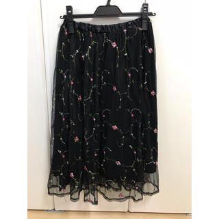 しまむら - ミディ丈刺繍スカート♡