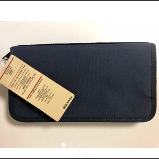 MUJI (無印良品) - 無印良品 パスポートケース 1番人気のネイビー☆リフィル3枚付き☆