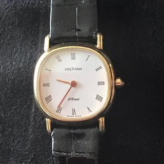 ウォルサム(Waltham)のスイス製 ウォルサム K18 腕時計(腕時計)