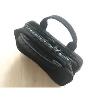 ☆無印良品 ブラック 黒  ナイロンブック型コスメポーチ 約12×21×6cm☆