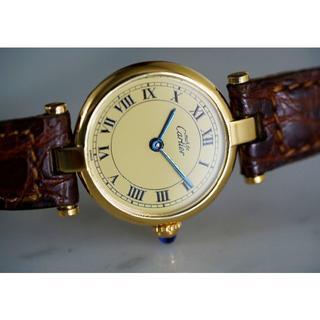 カルティエ(Cartier)の美品 カルティエ マスト ヴァンドーム アイボリー SM Cartier(腕時計)