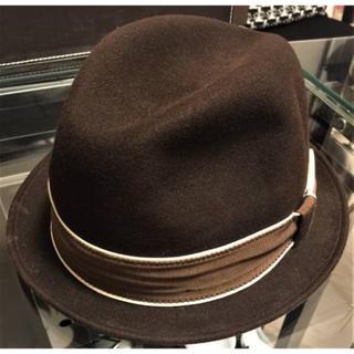 ニューヨークハット(NEW YORK HAT)の売切り‼️New YORK ニューヨークハット 中折れハットブラウン(ハット)