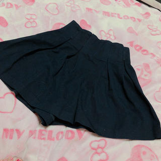 バイバイ(ByeBye)のByeBye キュロット スカート見せショートパンツ ネイビー M(ショートパンツ)