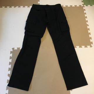 ジーユー(GU)のGU メンズ カーゴパンツ ブラック(ワークパンツ/カーゴパンツ)