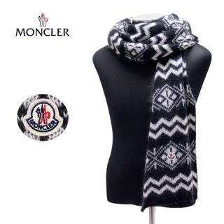モンクレール(MONCLER)の61MONCLER SCIARPA ブラック×ホワイトマフラー(マフラー)