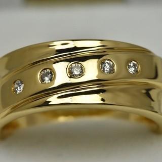 専用です K18ゴールド 合計 0.08ct ダイヤモンドリング 11号 指輪 (リング(指輪))