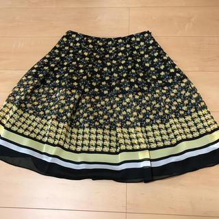 エムズグレイシー(M'S GRACY)のM'sグレイシー黄色小花スカート美品✨(ひざ丈スカート)