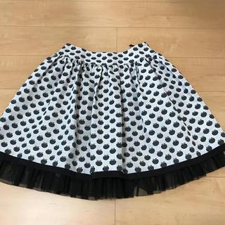 エムズグレイシー(M'S GRACY)のM'sグレイシーリンゴ可愛いスカート美品✨(ひざ丈スカート)