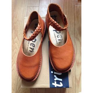トリッペン(trippen)のトリッペン/メッシュレザーストラップシューズ イディル37(ローファー/革靴)