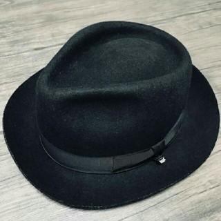 カシラ(CA4LA)のCa4la Knox ハット サイズ60 ブラック 黒(ハット)